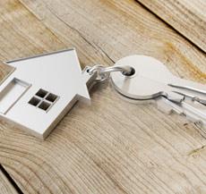 Schlüssel mit Haus Schlüsselanhänger